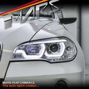 Clear LED DRL projector Head Lights for BMW X-Series X5 E70 2007-2010 Pre LCI