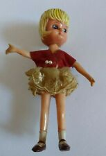 Vintage 1966 Hong Kong Marx Doll Blonde Girl w/ Clothes & Shoes