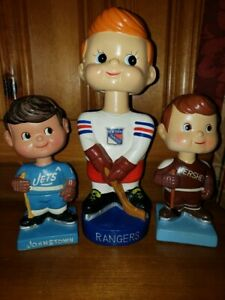 New York Rangers Vintage Bobble Head/Bobbing Head/Nodder Bank Mint and HUGE
