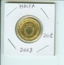 2008 MALTA 20€-Cents  20-€-Cents 20 Euro-Cents Coin  !!