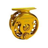 EatMyTackle Large-Arbor Gold Saltwater Fly Fishing Reel 3/4, 5/6, or 7/8 wt.