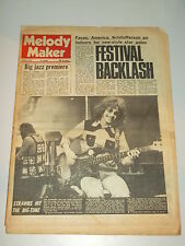 MELODY MAKER 1972 APRIL 8 ORNETTE COLEMAN STRAWBS THE FACES T.REX