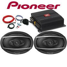 JBL GX Amp Amplifer Pioneer TS-A6960F 6x9 Speaker Package Deal 900W Total Power