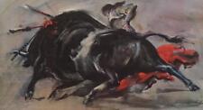 LUMEN MARTIN WINTER Vintage Lithograph BULLFIGHT American Muralist LARGE #649