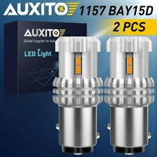 AUXITO Amber 1157 LED Turn Signal Parking Reverse Brake Light 1157A 7528 BAY15D