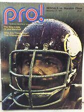 PRO! BENGALS VS HOUTON OILERS NOVEMBER 21, 1971 THE NINE LIVES OF JIM MARSHALL