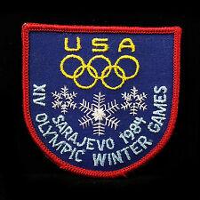 1984 USA XIV OLYMPIC WINTER GAMES SARAJEVO Original NOS Embroidered USA Patch
