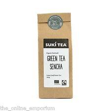 100g PACK SUKI ORGANIC GREEN TEA SENCHA FAIRTRADE AWARD WINNING LOOSE LEAF TEA