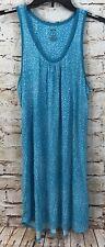 Apt 9 chemise nightshirt womens small nightie  teal sleep sleeveless knit new E7