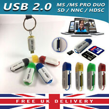 Portable 4 in 1 Memory Multi Card Reader Usb 2.0 for Sd/ Tf/ M2 Card Mixed Color