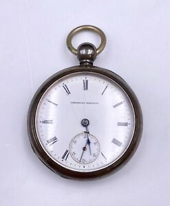 1876 Waltham 18s 15j Key Wind Coin Silver Pocket Watch W.W.Co/1857 #893887 OF/HC