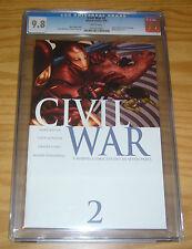 Civil War #2 CGC 9.8 mark millar - marvel's avengers - spider-man reveals ID