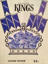 SPRINGFIELD KINGS vs Baltimore Clippers AHL PROGRAM Nov 17 1967