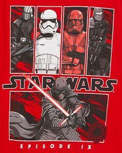 Star Wars The Rise of Skywalker Red Tee Shirt T-shirt Kylo Ren Team