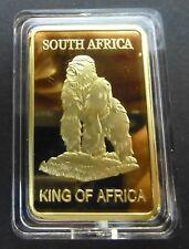 The Gorilla King Of Africa - Suid Afrika Krugerrand - 1Oz 0.999 Gold Layered Bar