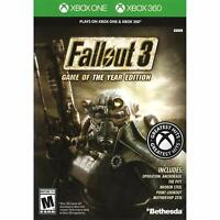 Fallout 3 Game of the Year Edition Xbox 360 & Xbox One Brand New