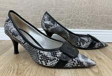 GABOR Damen 5,5 / 38,5 Pumps Animal Snake Schlange grau Stilettos High Heels P1
