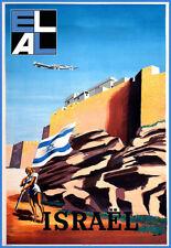 Art Print  El Al Israel Travel  Poster