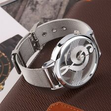 New Music Note Design Unisex Watches Steel Strap Analog Quartz Wrist Watch ZM