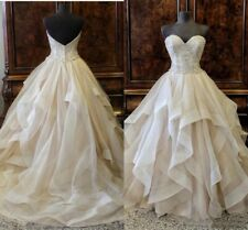 Wedding Dresses Sweetheart Sleeveless Crystal Beaded Strapless Bridal Gowns