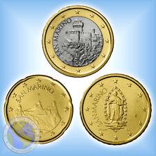 Mini - KMS ## SAN MARINO 2018 : 20 Cent , 50 Cent , 1 Euro KURSMÜNZEN ## im Set