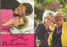 2 Autogramme AK Duo California aus den 90er Jahren u.v.heute, Schlager original