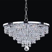 "Glow Lighting Crystal 13"" Flush Mount Pendant Chandelier Ceiling Light"