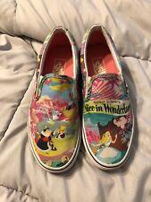Rare Disney Vans Alice in Wonderland Slip-On Size 4M/5.5W