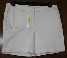 Jones New York Womens New $59 Flat Front Stretch Fit Shorts Petite 14P PXL White