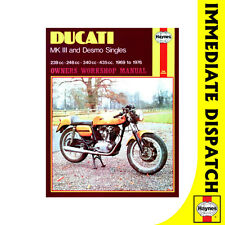 [0445] Ducati MK3 Desmo 239 250 350 450 Singles 1969-76 Haynes Workshop Manual