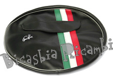 1082 - WHEEL COVERS BLACK BAND TRICOLOR 3-50-10 VESPA 125 PX - RAINBOW