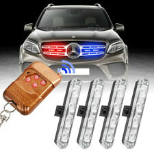 4in1 Car 16 LED Red&blue/blue Strobe Flash Light Dash Emergency Warning Lamp