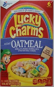 NEW GENERAL MILLS LUCKY CHARMS INSTANT OATMEAL 6 PACK 8.4 OZ BOX FREE SHIPPING