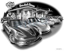 "CORVETTE 2010 ZR1 C6 AUTO CAR ART PRINT #1073 ""FREE USA SHIPPING"""