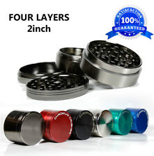 Herb Grinder Space Case Top Magnetic Tobacco Multi 2 Inch 4 Piece Pc Metal Gun