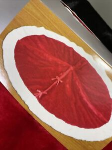 """NEW!  50"""" Red & White Christmas Tree Skirt with Free Shipping!!"""