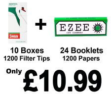 1200 Ezee Green Rolling Papers and 1200 Swan Menthol Extra Slim Filter Tips