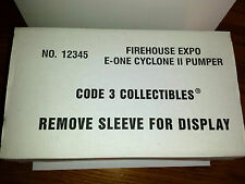 Code 3 Firehouse Expo 4 E-One Cyclone 11 Pumper  #12345 c3