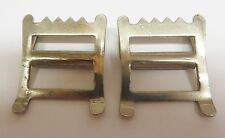 """PAIR OF HEAVY STEEL ROKO BUCKLES FOR 1 1/4"""" STRAPS"""