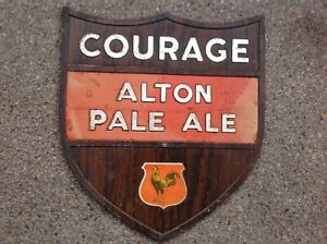 Courage Alton Pale Ale card brewery advertising pictorial sign not enamel