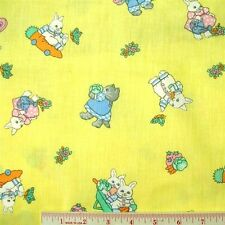 Richard Scarry Busytown Characters Yellow Cotton Fabric Fat Quarter