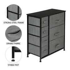 7-Drawer Dresser Storage Closet 7 Removable Fabric Drawers Wide Bamboo Shelves