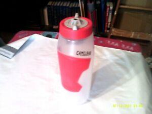 CAMELBAK REIGN BPA FREE TRU TASTE WATER BOTTLE 32 OZ CLEAR/ RED NEW