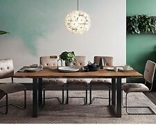 """87"""" Reclaimed Restoration Industrial Rustic Hardware Wood & Iron Dining Table"""