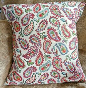 """Floral Paisley Print Tapestry Fabric Cushion Cover 16"""" x 16"""""""