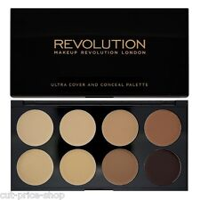 Makeup Revolution Cover and Conceal Palette Natural Contour Medium - Dark