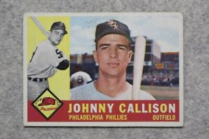 1960 Topps #17 JOHNNY CALLISON PHILADELPHIA PHILLIES - Vintage Baseball Card