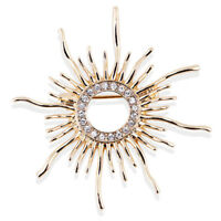 Broche para el sol con broche de cristal de diamantes de imitación para mujer