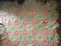 VINTAGE CROCHET HANDMADE HANDCRAFTED BEDSPREAD COVERLET TABLE CLOTH