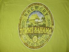 TOMMY BAHAMA RELAX BREWERY Mens T Shirt L Green TB Brewery Hut To Gut
